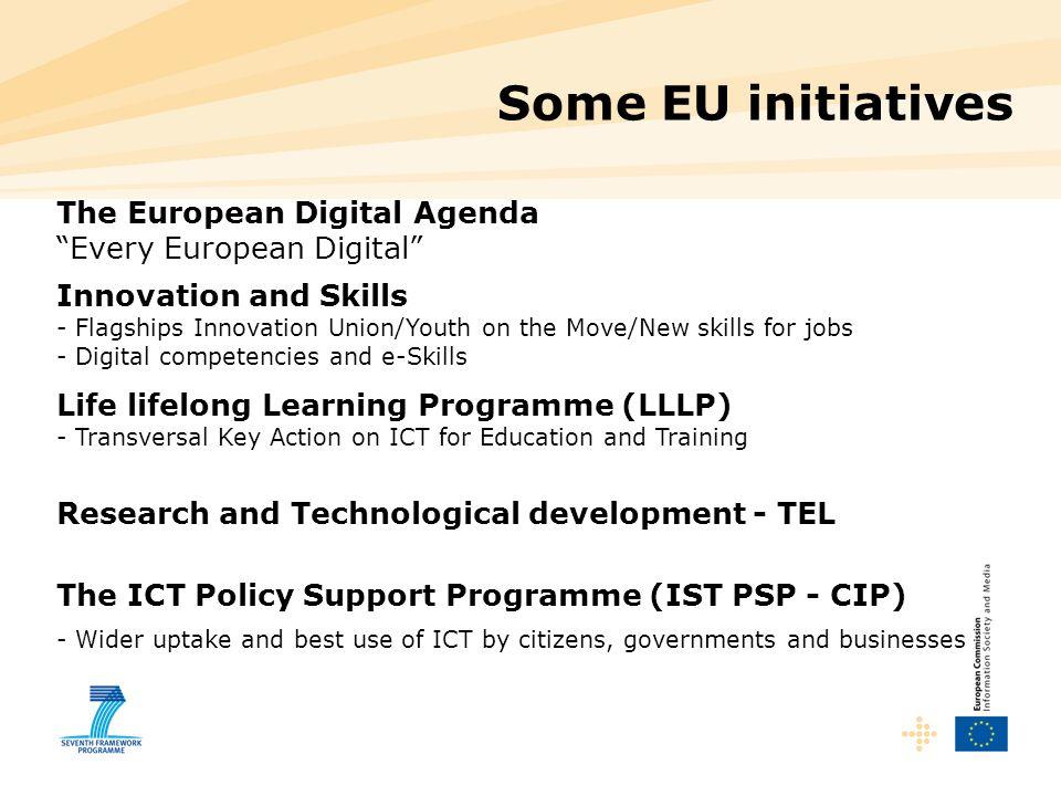 Some EU initiatives The European Digital Agenda