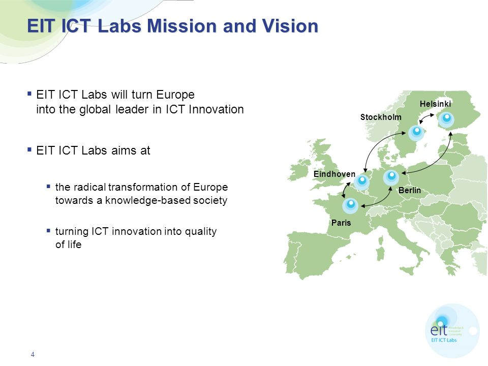 EIT ICT Labs Mission and Vision