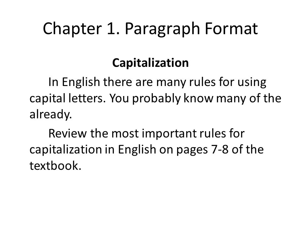 chapter capitalized essay