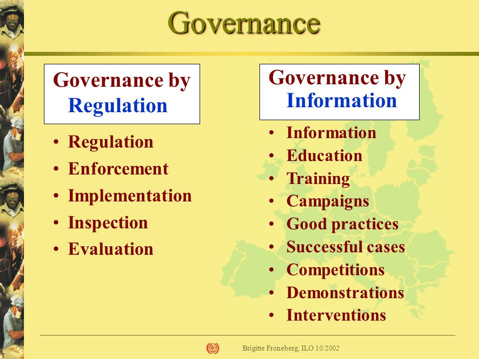 Governance Governance by Regulation Governance by Information