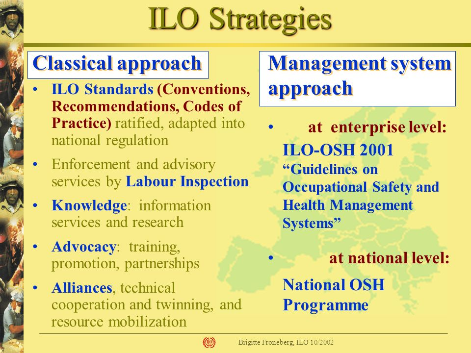 ILO Strategies Classical approach Management system approach