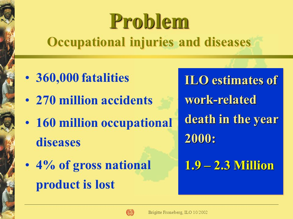 Problem Occupational injuries and diseases
