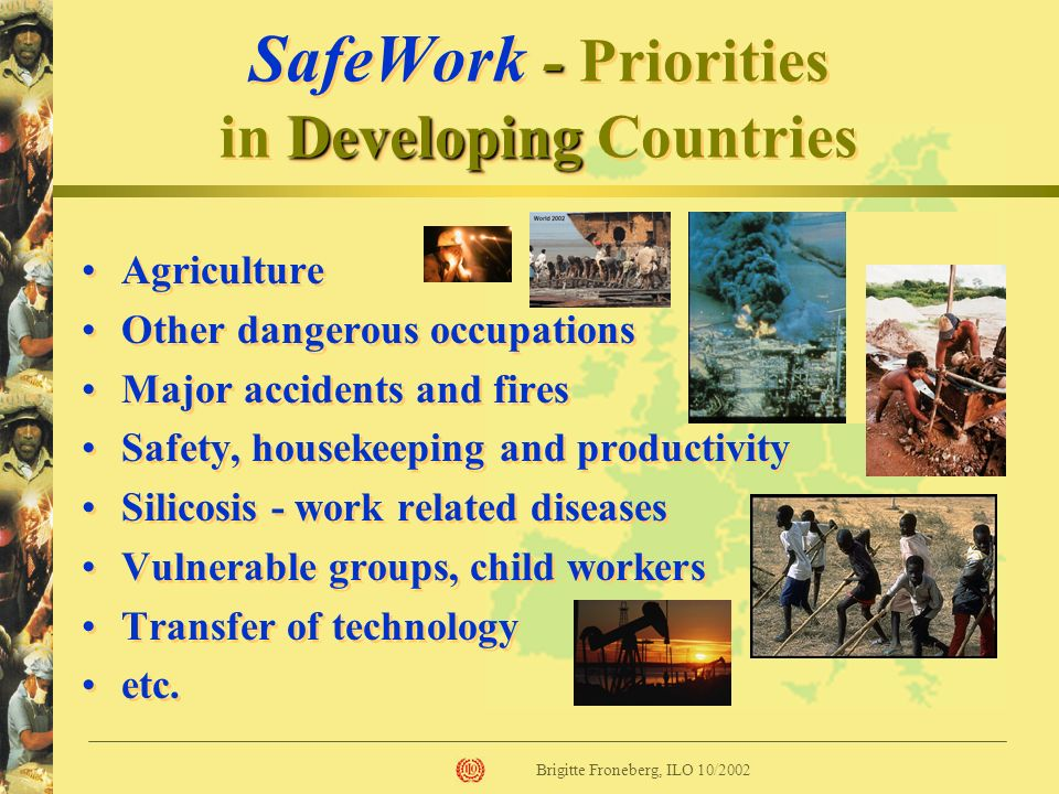 SafeWork - Priorities in Developing Countries
