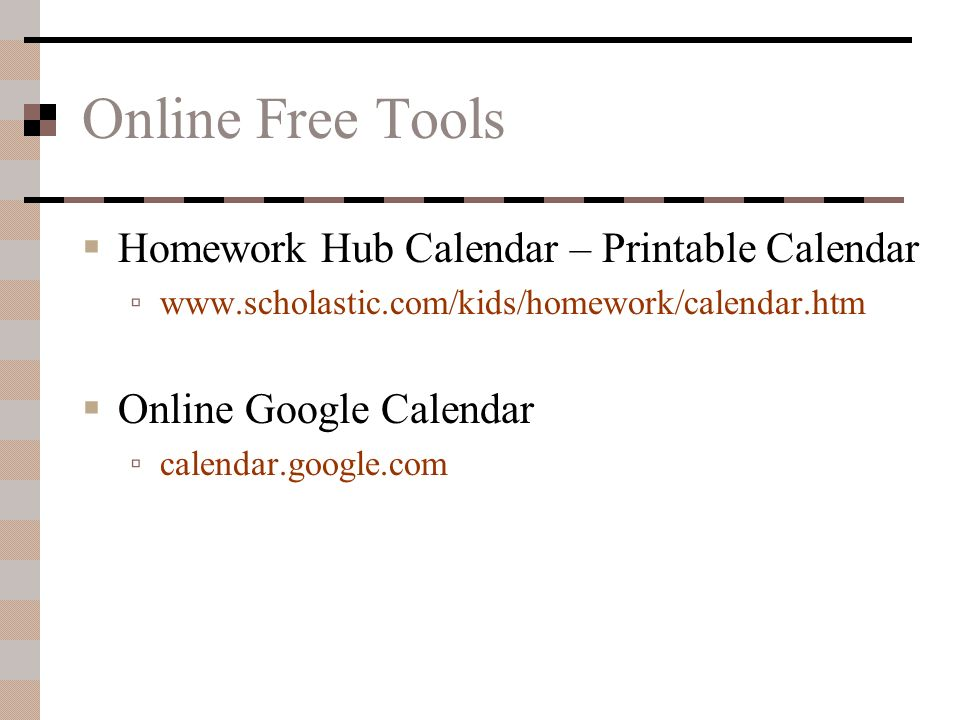 Google Calendar Homework Planner : Time management wasted is lost