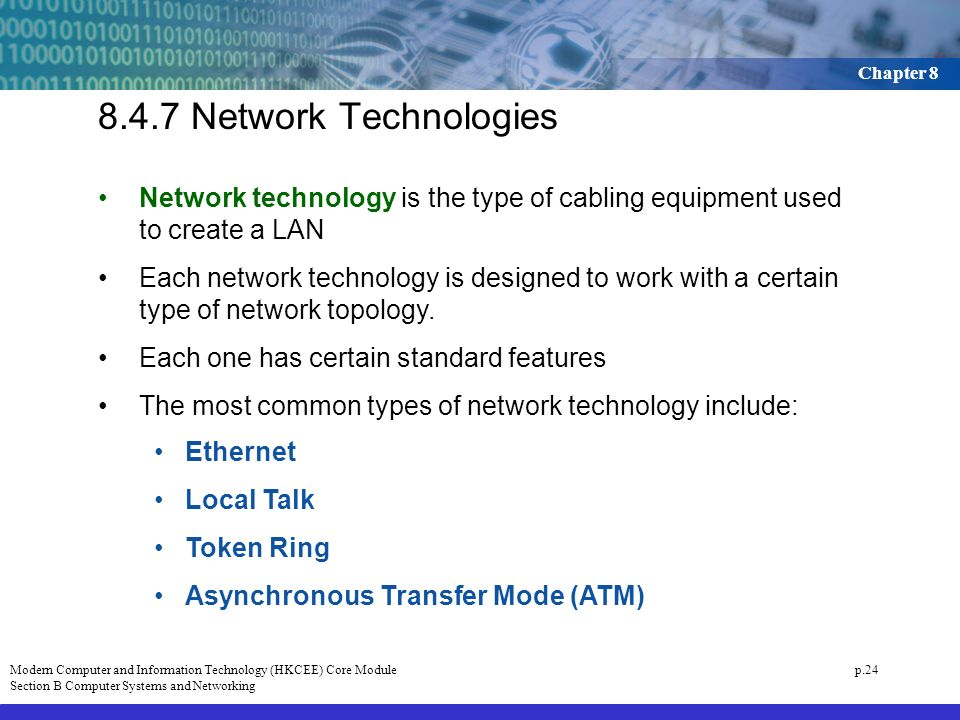 847 Network Technologies Technology Is The Type Of Cabling Equipment Used To Create