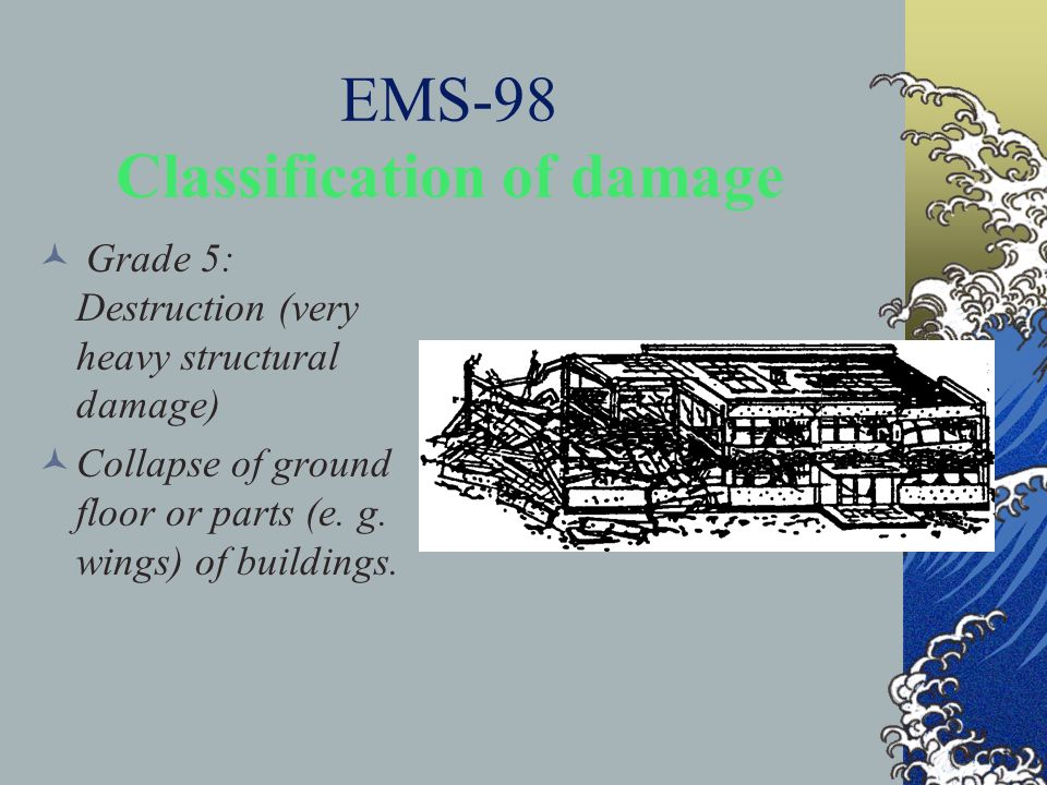 EMS-98 Classification of damage