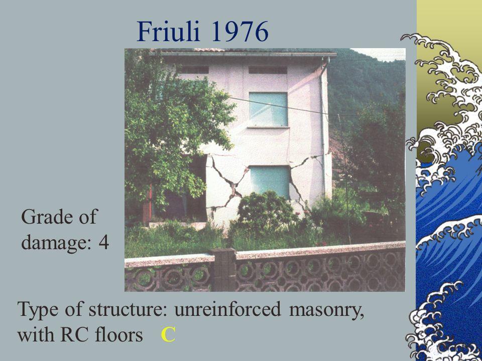 Friuli 1976 Grade of damage: 4