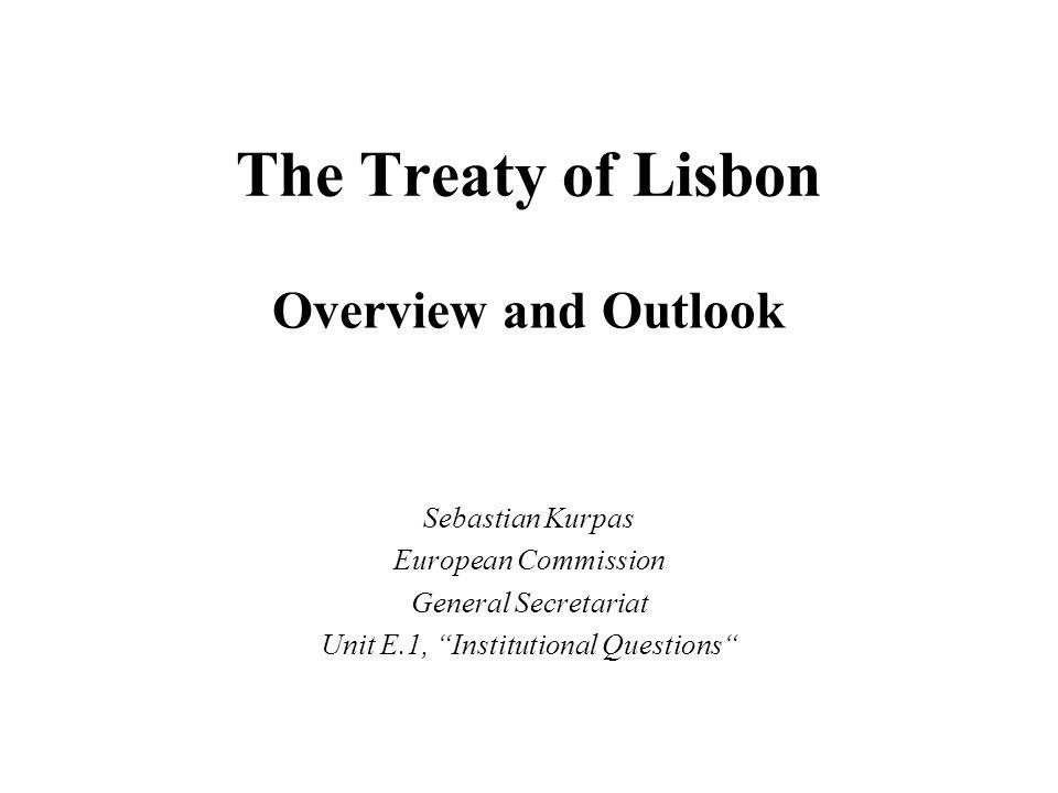 Unit E.1, Institutional Questions