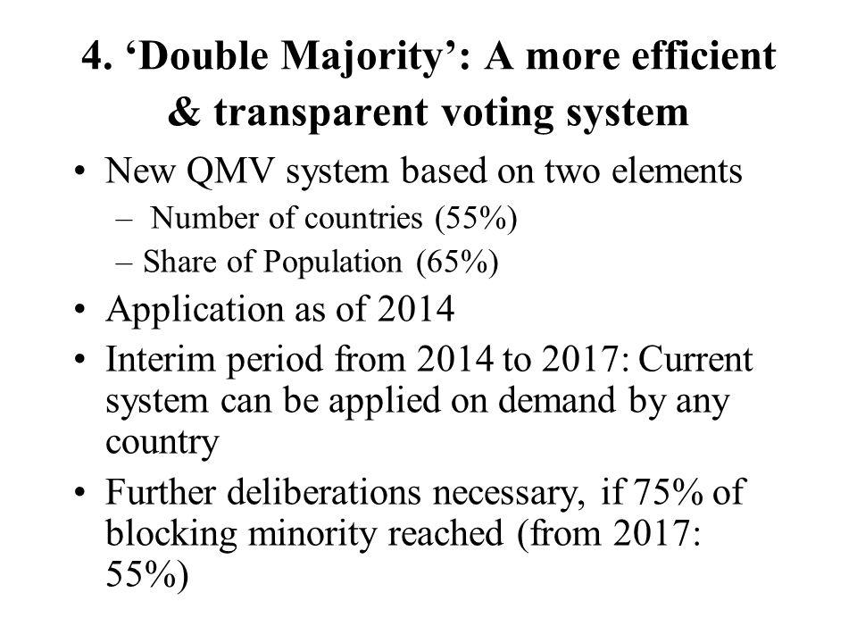4. 'Double Majority': A more efficient & transparent voting system