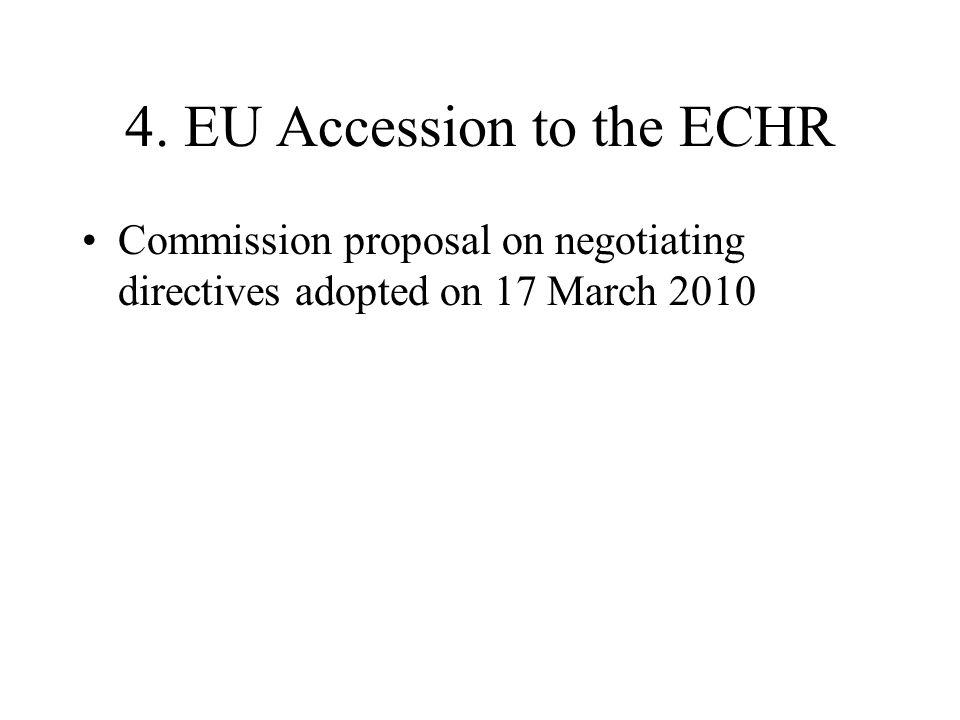 4. EU Accession to the ECHR