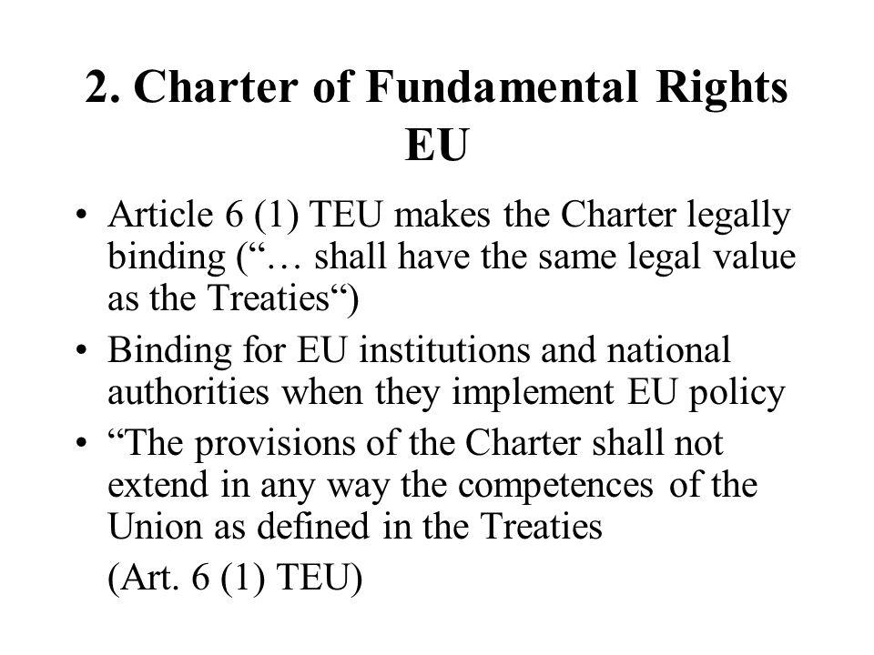 2. Charter of Fundamental Rights EU