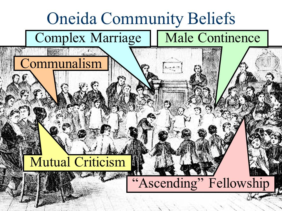 an analysis of beliefs and teachings in the oneida community Because no single religion could impose its beliefs on the community many outside the community were critical of brook farm, especially in the press the new york observer, for example, suggested that, the associationists.