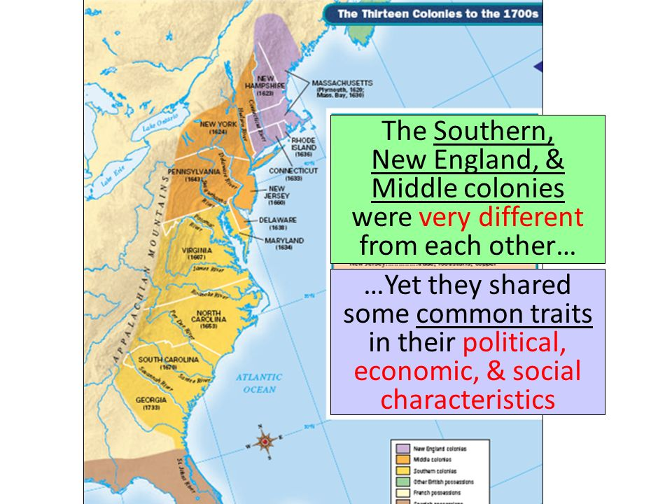 how were the new england middle and southern colonies different The middle and southern settlements were as different as night and day  the  new england and southern colonies were both settled largely by the english.