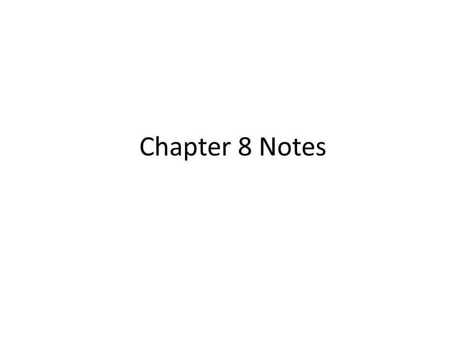 chapter 6 course notes