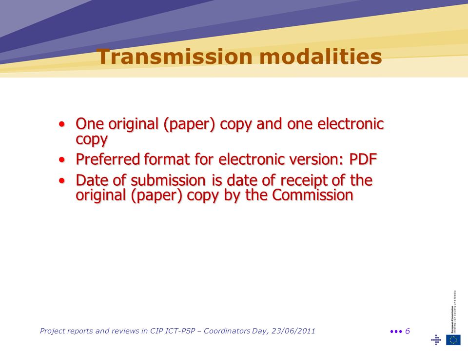 Transmission modalities