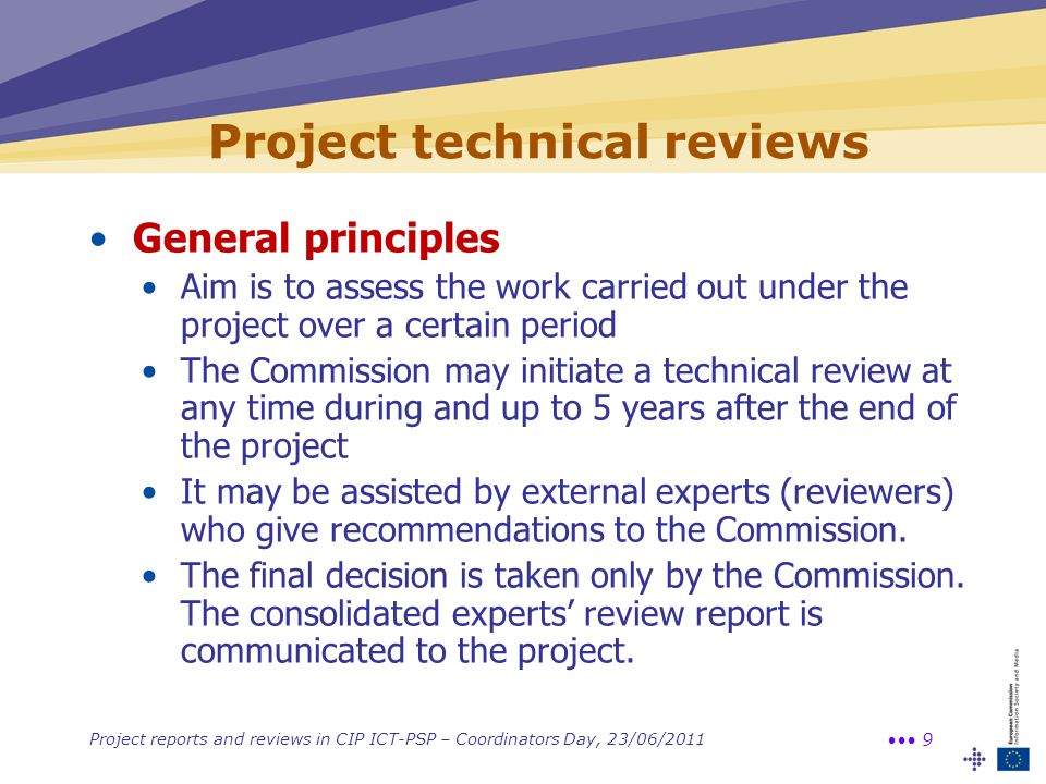 Project technical reviews