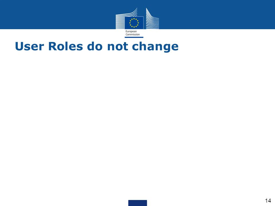 User Roles do not change
