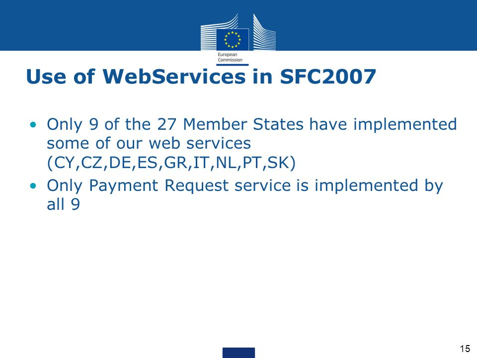 Use of WebServices in SFC2007