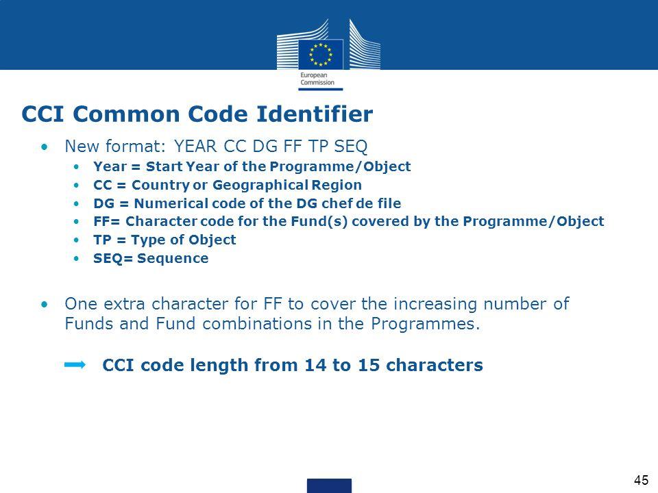 CCI Common Code Identifier