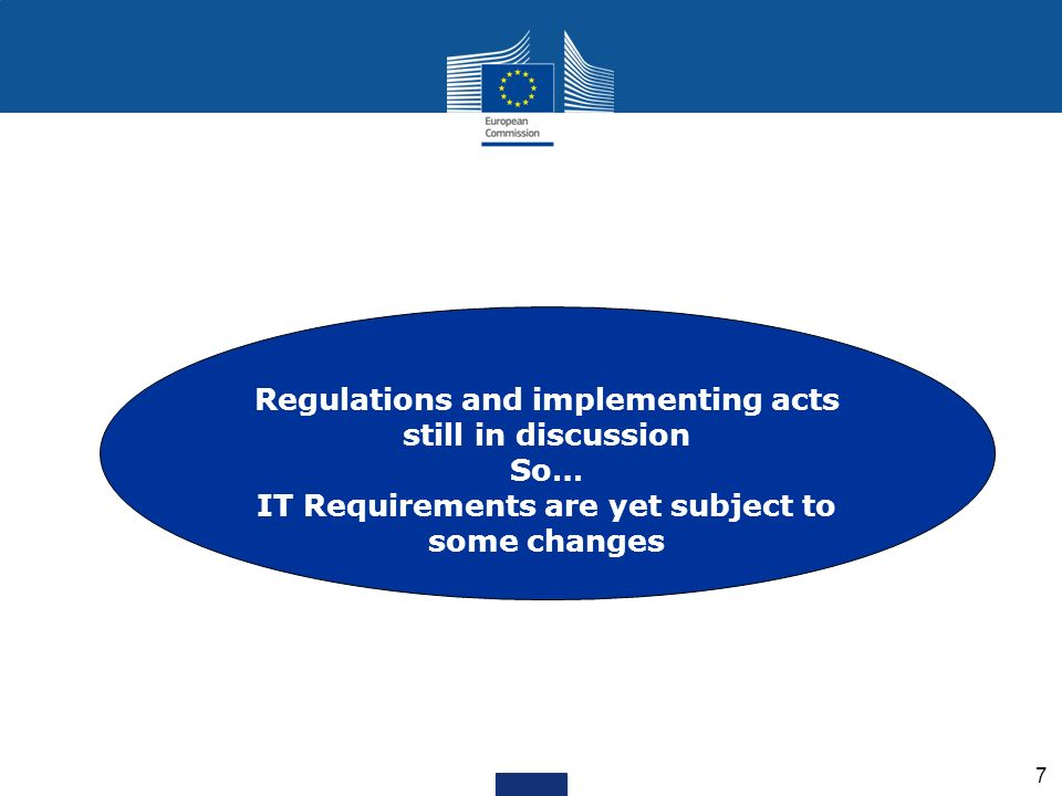 Regulations and implementing acts still in discussion So…