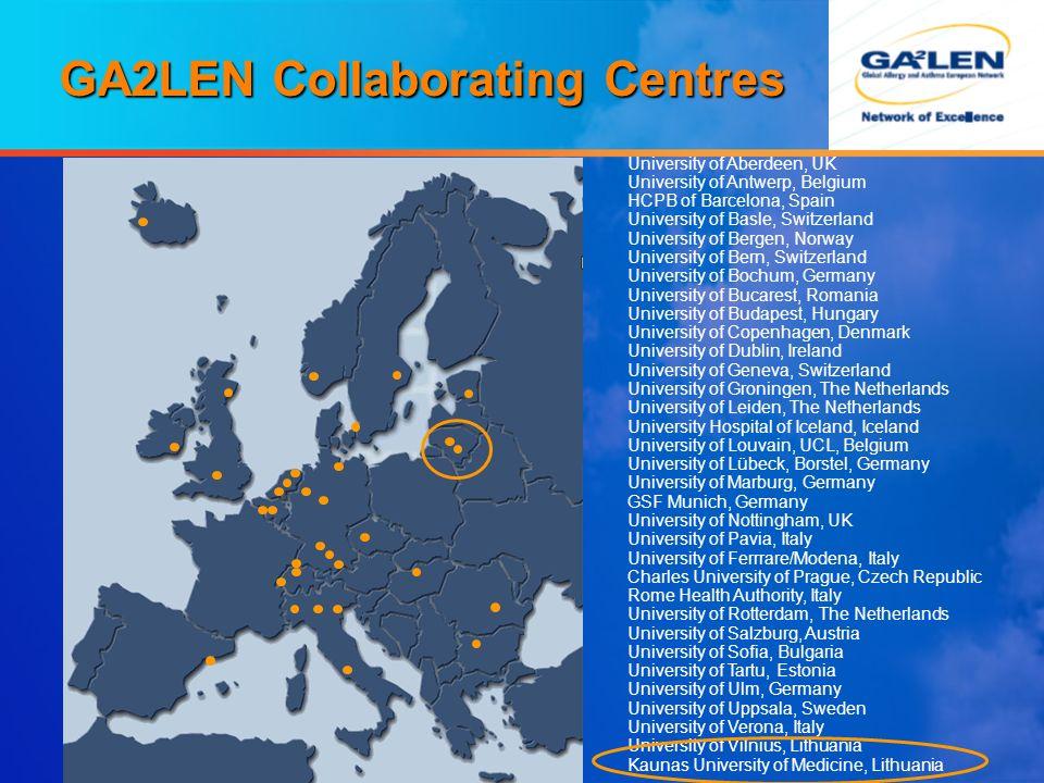 GA2LEN Collaborating Centres