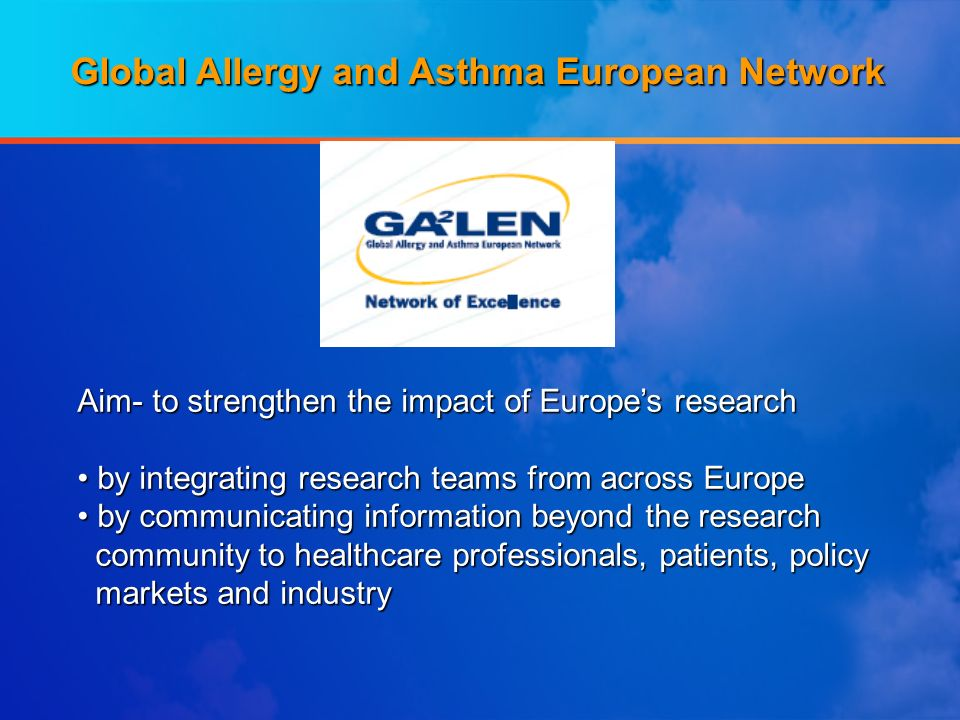 Global Allergy and Asthma European Network