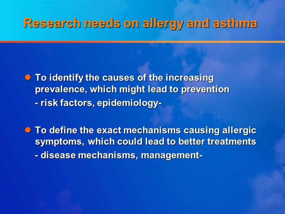 Research needs on allergy and asthma