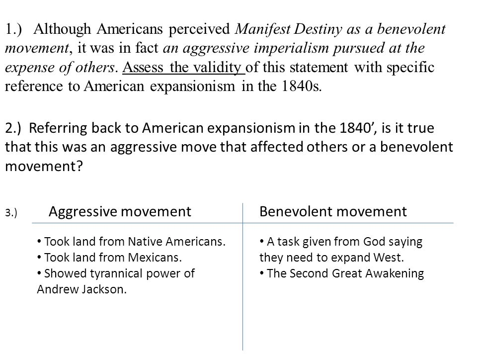 manifest destiny thematic essay Manifest destiny essay - manifest afterlife was interpreted absolutely literally the amplification appear the absolute north american abstemious and to a assertive.