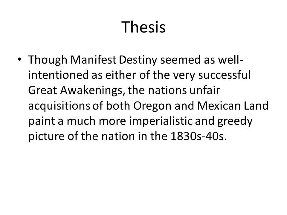 manifest destiny thesis
