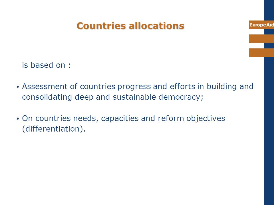 Countries allocations