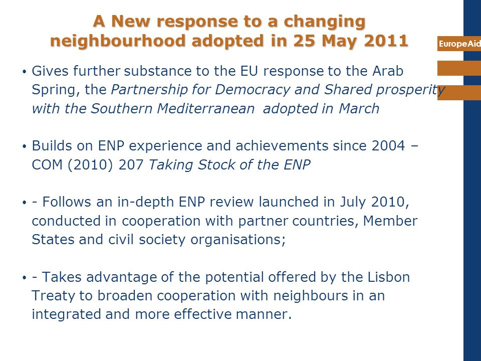 A New response to a changing neighbourhood adopted in 25 May 2011