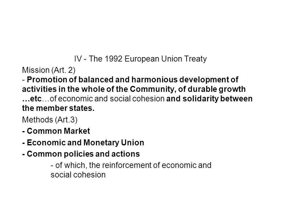 IV - The 1992 European Union Treaty