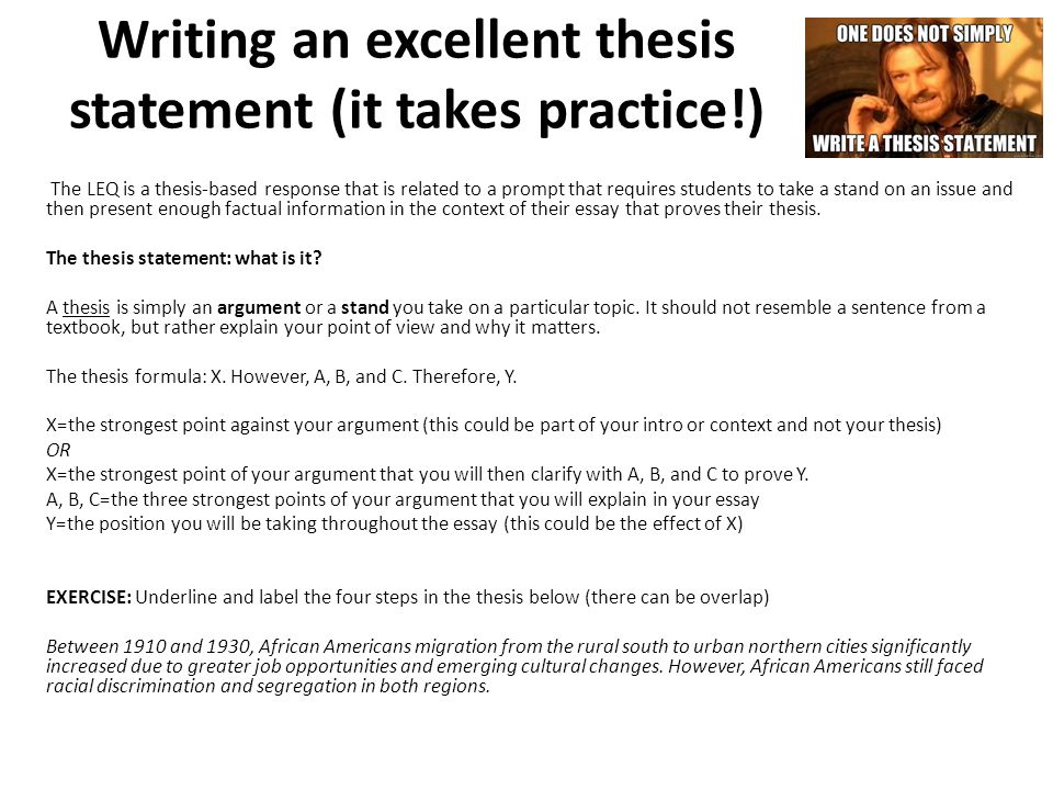 write brilliant thesis statement The thesis statement is that sentence or two in your text that contains the focus of your essay and tells your reader what the essay is going to be about although it is certainly possible to write a good essay without a thesis statement (many narrative essays, for example, contain only an implied thesis statement), the lack of a thesis.