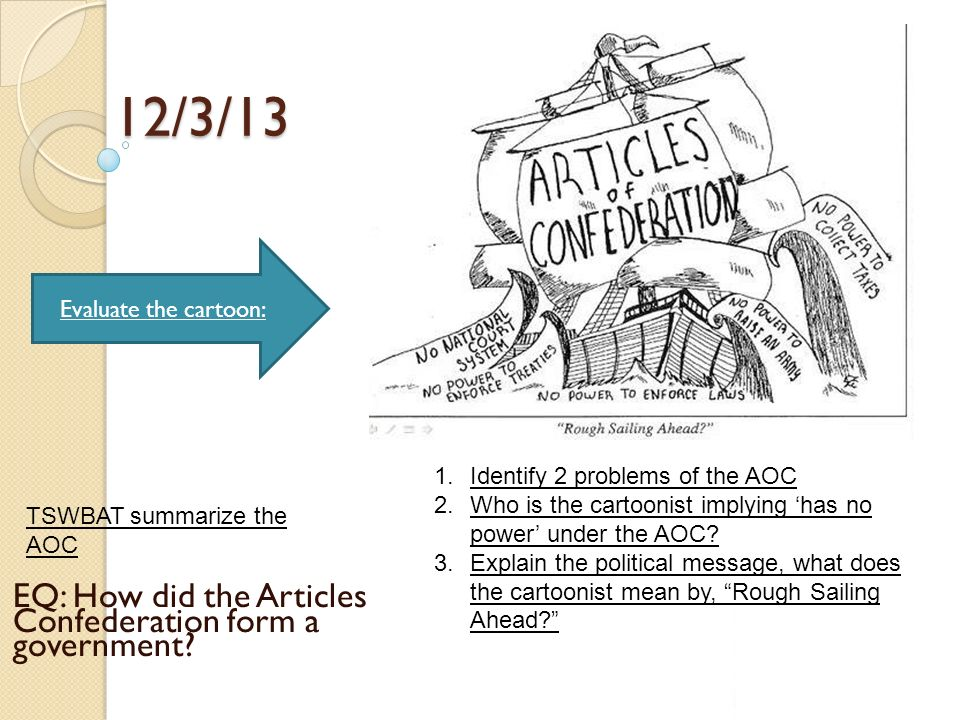 evaluating the original objectives of the articles of confederation The continental congress but their ultimate objectives were not consistent the articles of confederation: an interpretation of the social-constitutional history of the american revolution, 1774-1781 (1959) excerpt and text search.