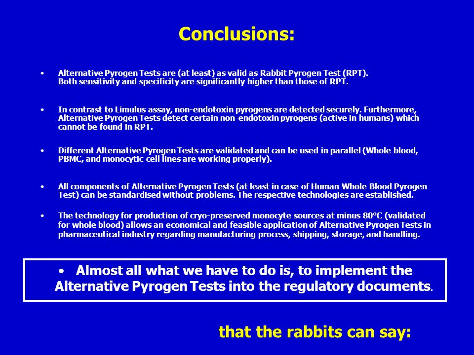 that the rabbits can say: