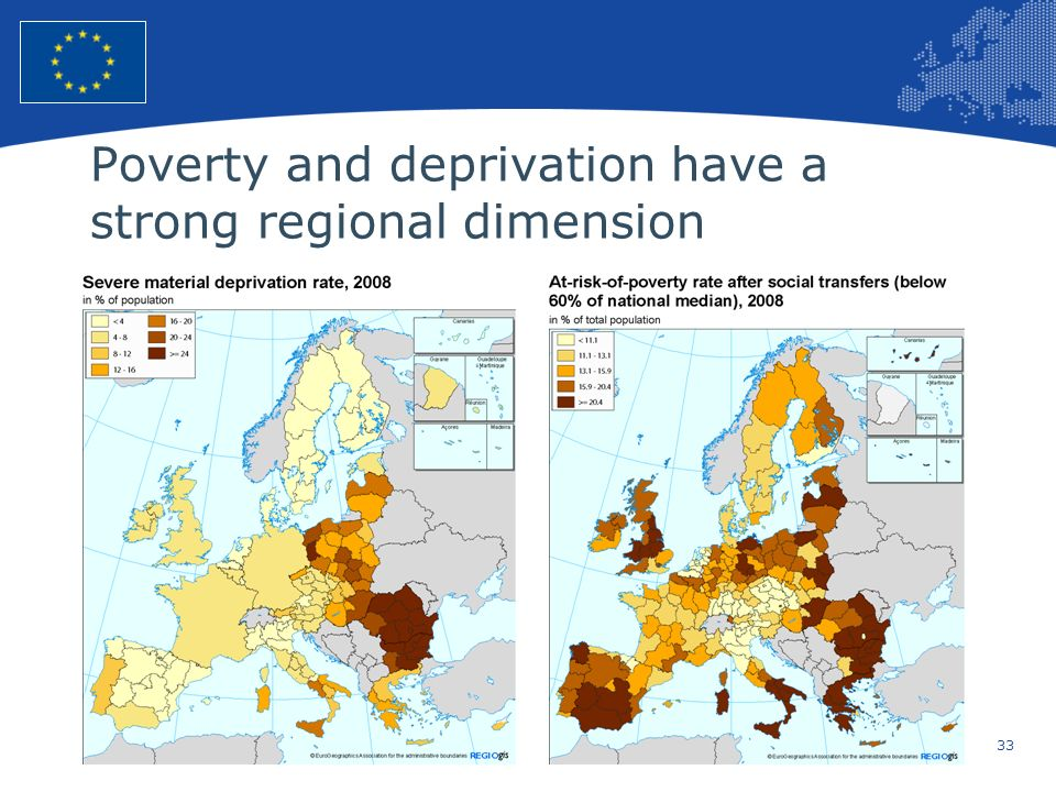 Poverty and deprivation have a strong regional dimension