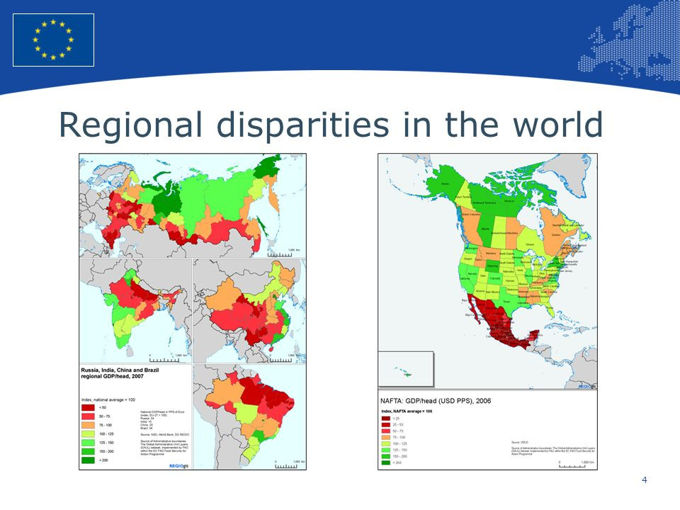 Regional disparities in the world