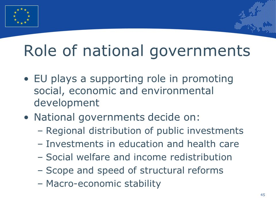 Role of national governments