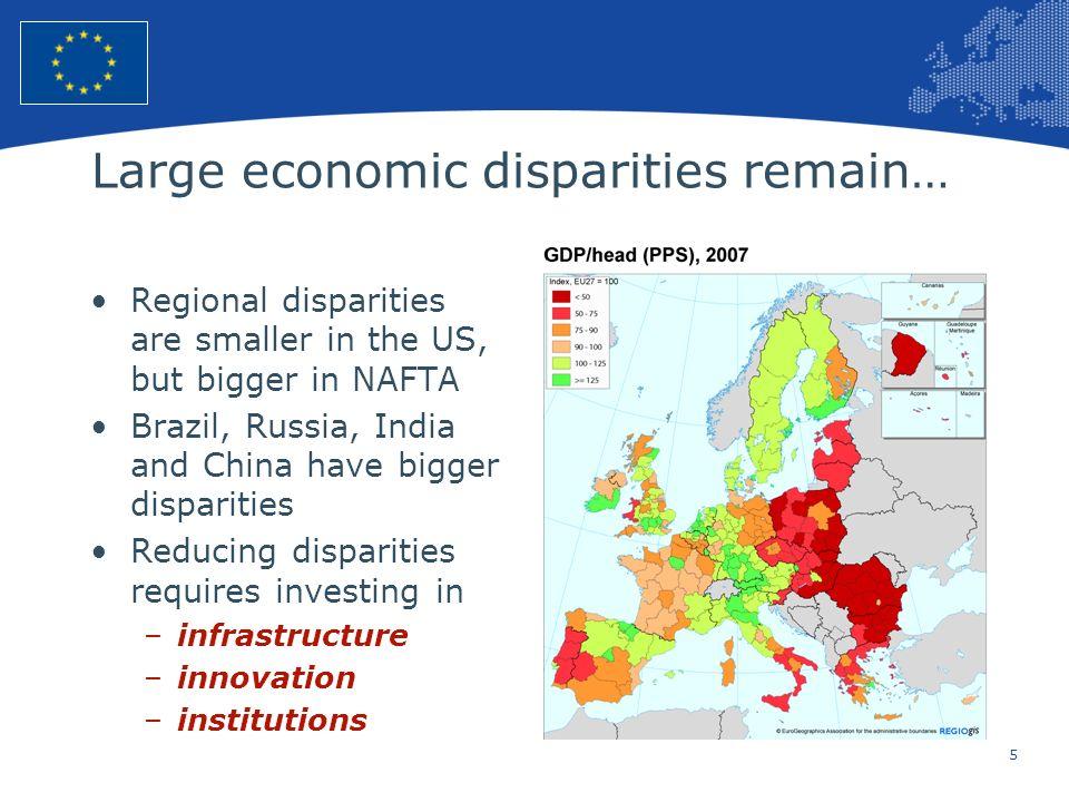 Large economic disparities remain…