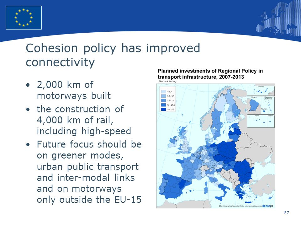 Cohesion policy has improved connectivity