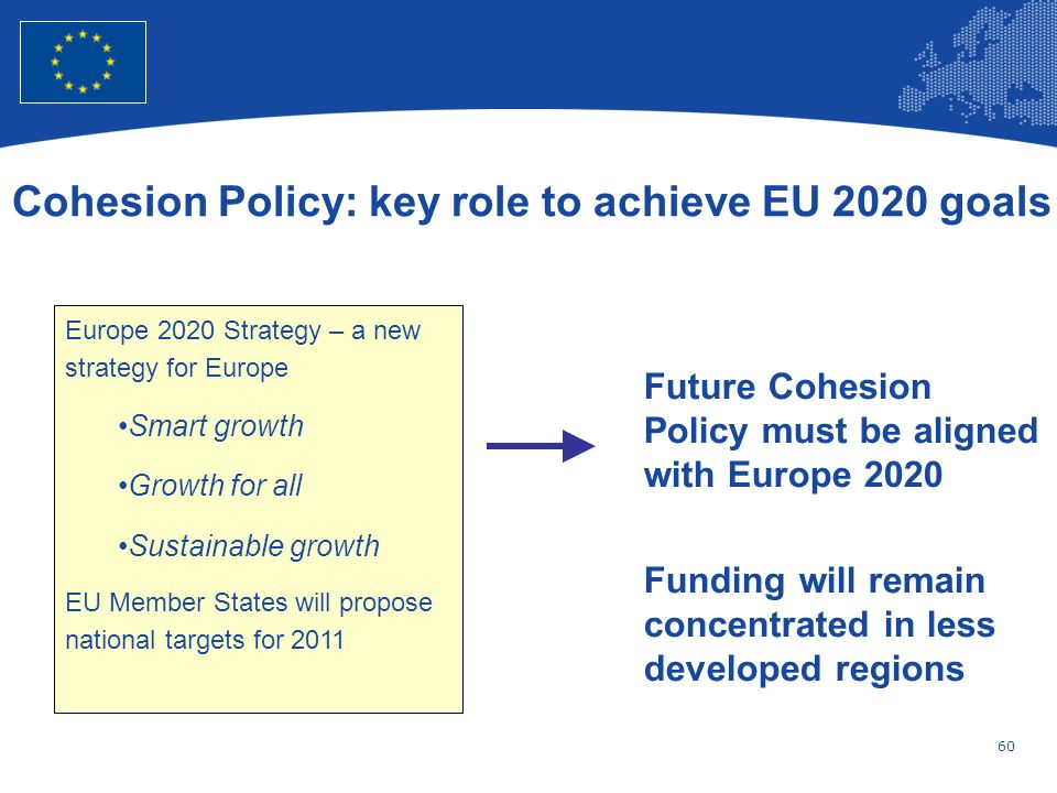 Cohesion Policy: key role to achieve EU 2020 goals