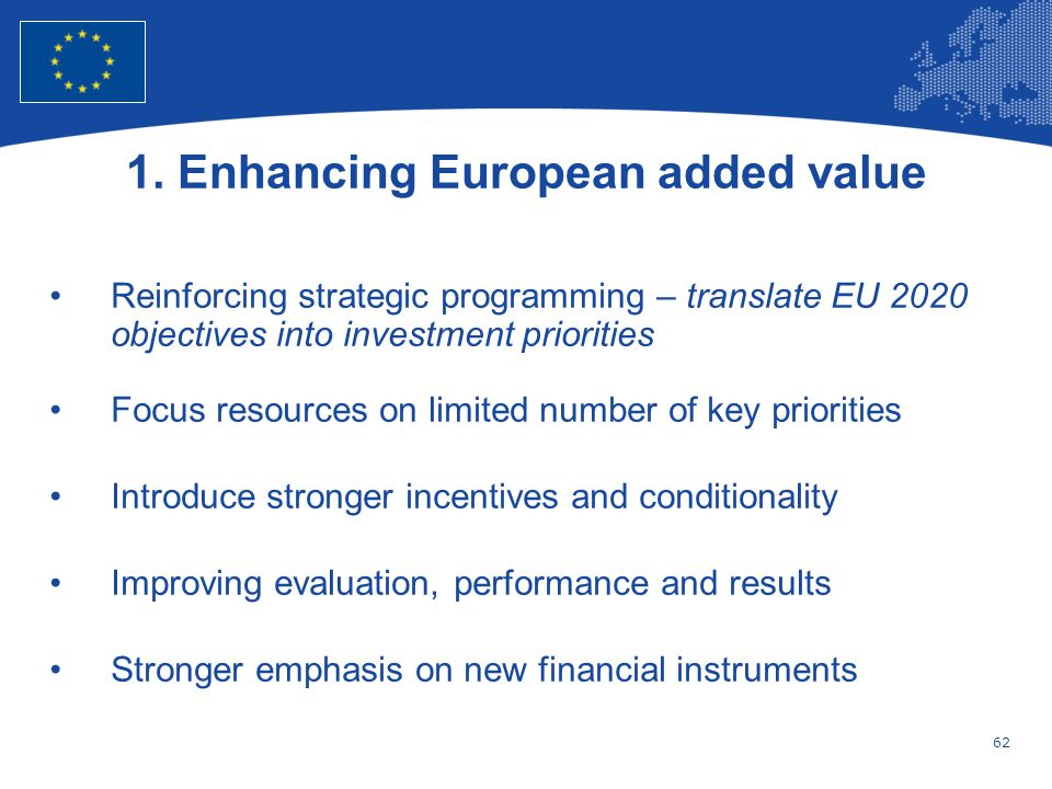 1. Enhancing European added value