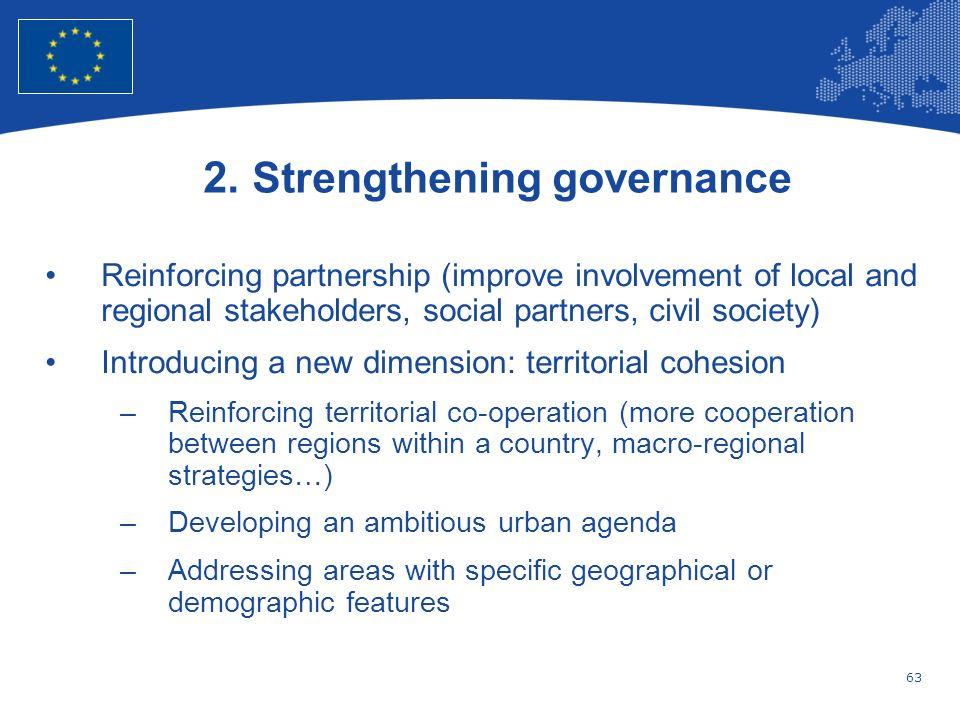 2. Strengthening governance