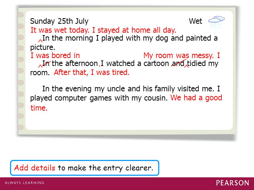 Writing a diary entry using a timeline - ppt video online download