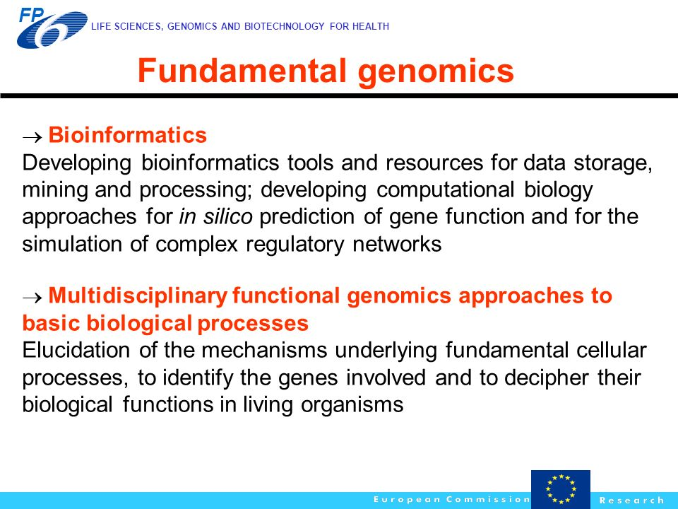 Fundamental genomics  Bioinformatics.