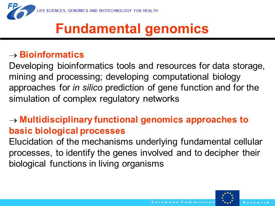 Fundamental genomics  Bioinformatics.