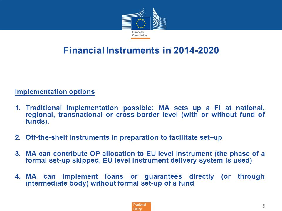 Financial Instruments in 2014-2020