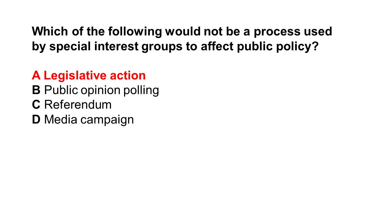 How do interest groups influence public policy?