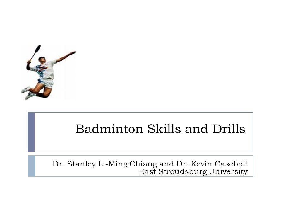 badminton skills