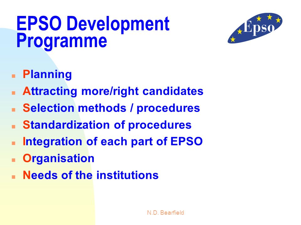EPSO Development Programme